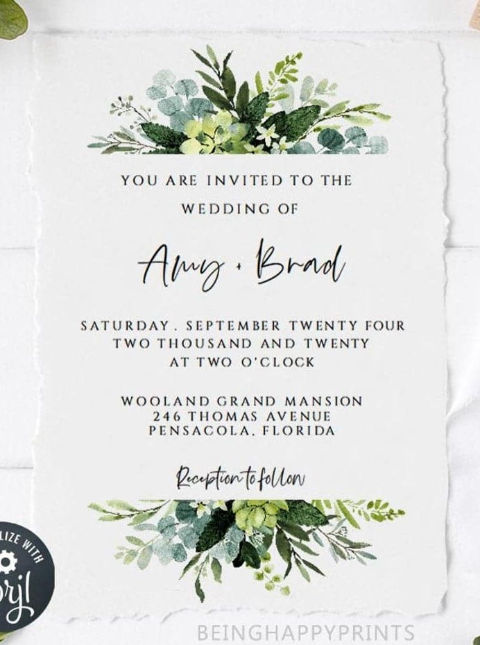 greenery-wedding-invite-template