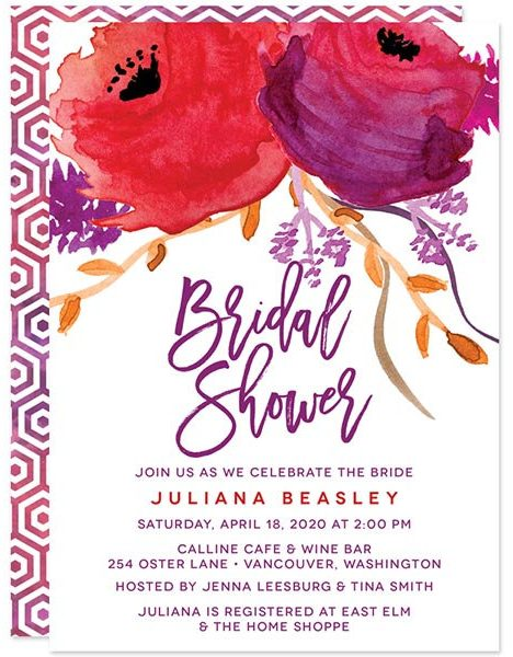 red-purple-floral-bridal-shower