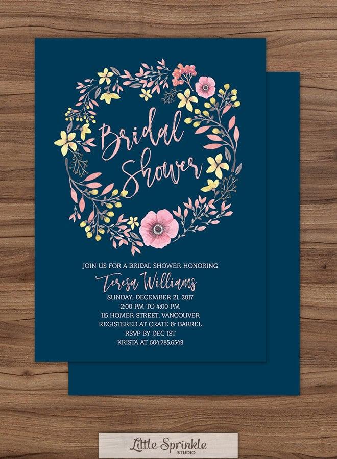 watercolor-wreath-navy-bridal-shower