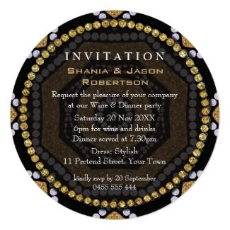 aztec_hearts_gold_black_dinner_party_round_invites-b
