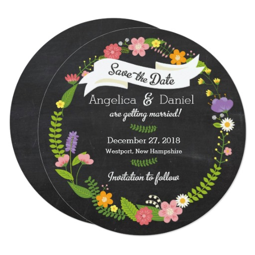 boho_woodland_wreath_on_chalkboard_wedding_card