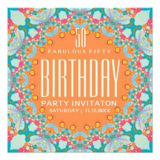 Magical Bohemian 50th Birthday Invitations