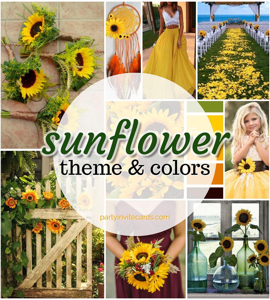 Sunflower Wedding ❤ Sunflower Baby & Birthdays ⋆ partyinvitecards ...