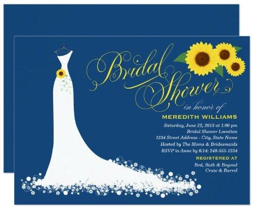 bridal_shower_invitation_sunflower_wedding_gown