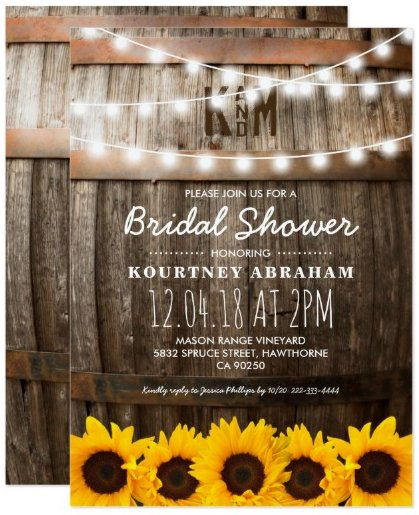 country_rustic_bridal_shower_sunflowers_card
