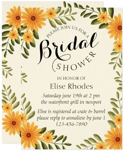 rustic_bright_yellow_sunflower_bridal_shower_card