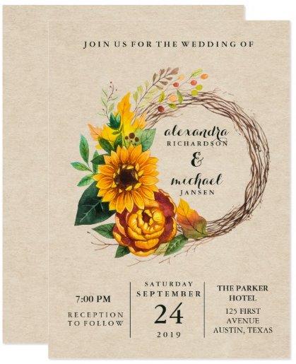 rustic_kraft_look_with_sunflower_wreath_wedding_card