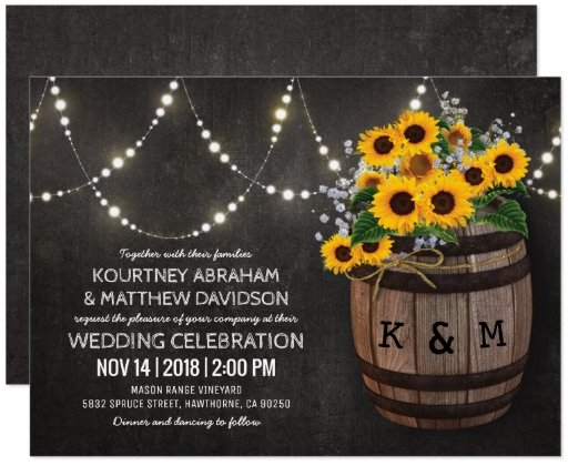 string_lights_rustic_vineyard_sunflower_wedding_card