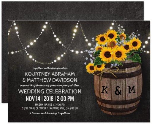 string_lights_rustic_vineyard_sunflower_wedding_card