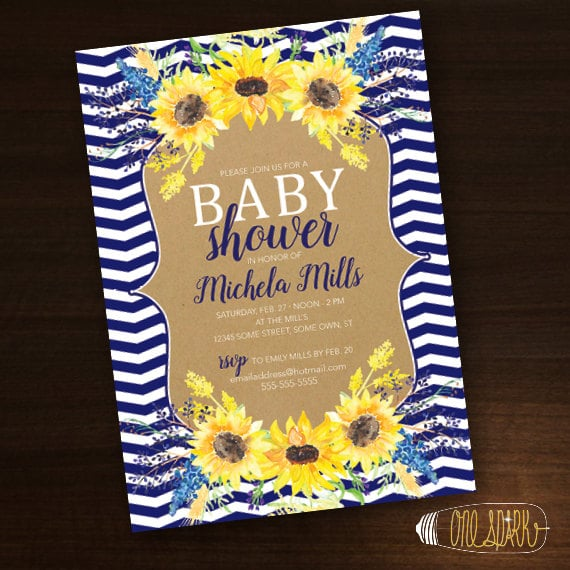 Sunflower wedding sunflower baby birthdays partyinvitecards sunflower baby shower invitation summer filmwisefo