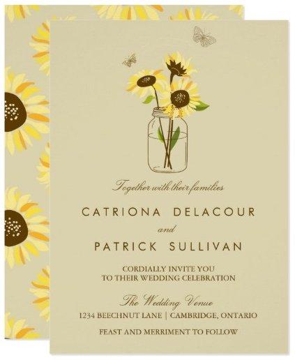 vintage_sunflowers_on_mason_jar_wedding_invitation