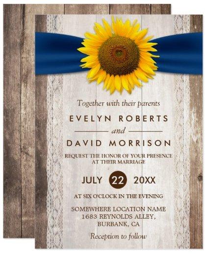 wedding_lace_rustic_barn_wood_sunflower_ribbon_card