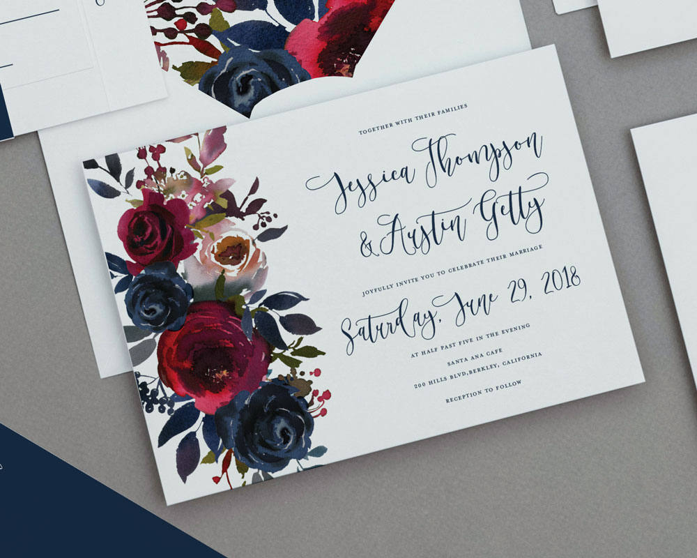 rustic-merlot-and-navy-floral-wedding
