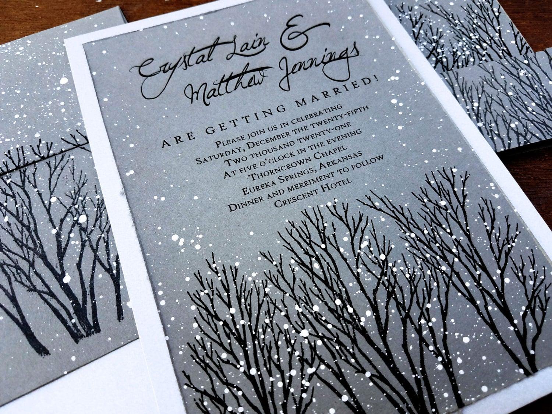 Winter Wedding Invitations • Winter Theme Decor ...