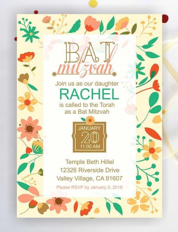 floral-bat-mitzvah-invitation