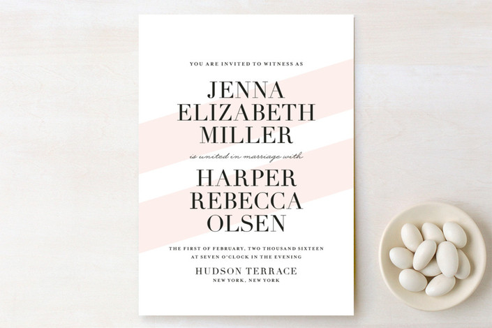 United as One Print-It-Yourself Wedding Invitations - Minted