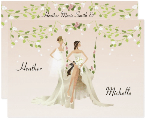 Beautiful Brides Lesbian Wedding Invitation by Wedding_Trends