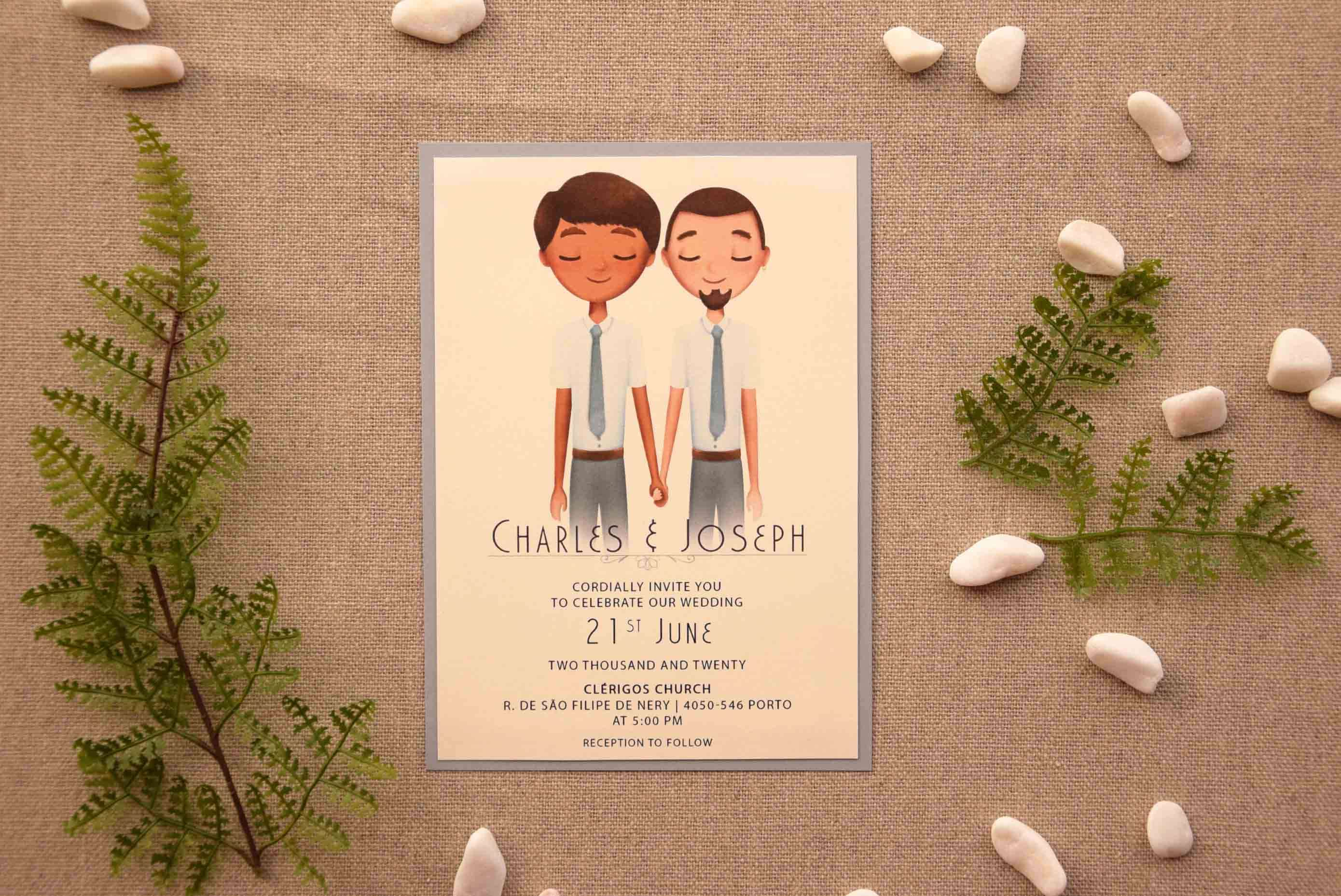 Gay Marriage Wedding Invitations: Same-sex Wedding Invitations And Ideas ⋆ Partyinvitecards