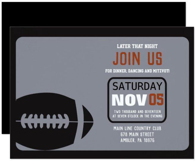 football_bar_mitzvah_invitation_party_card