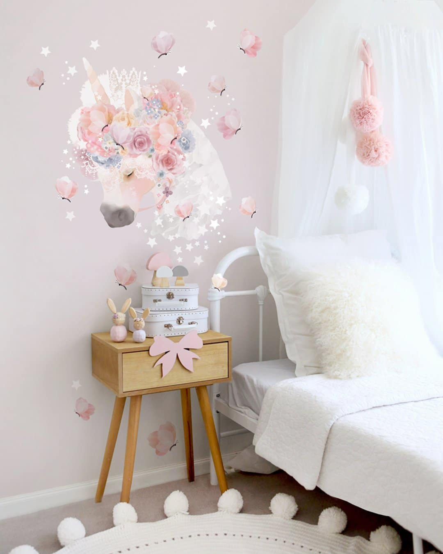 unicorns-butterflies-fabric-decal-wall